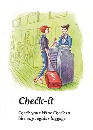 Check-it. Check your Wine Check in like any regular luggage