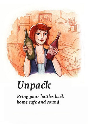 Unpack. Bring your bottles back home safe and sound, undamaged