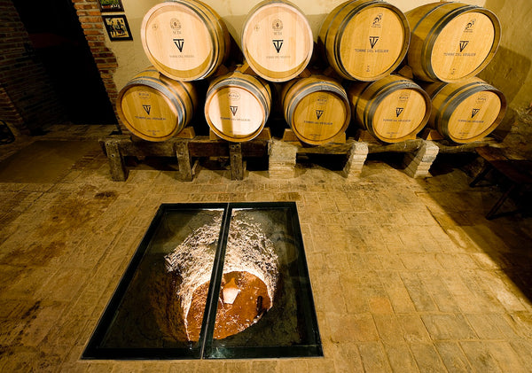 Barrel room in Torres del Veguer