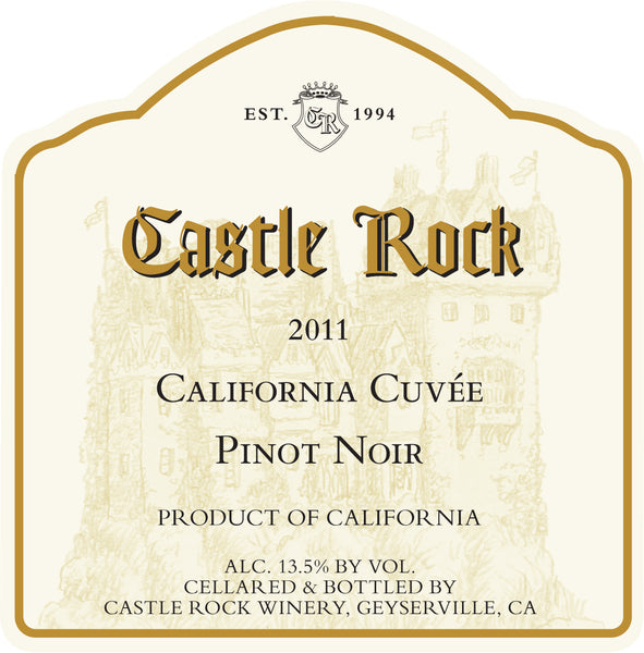 Californian Pinot Noir Wine Label