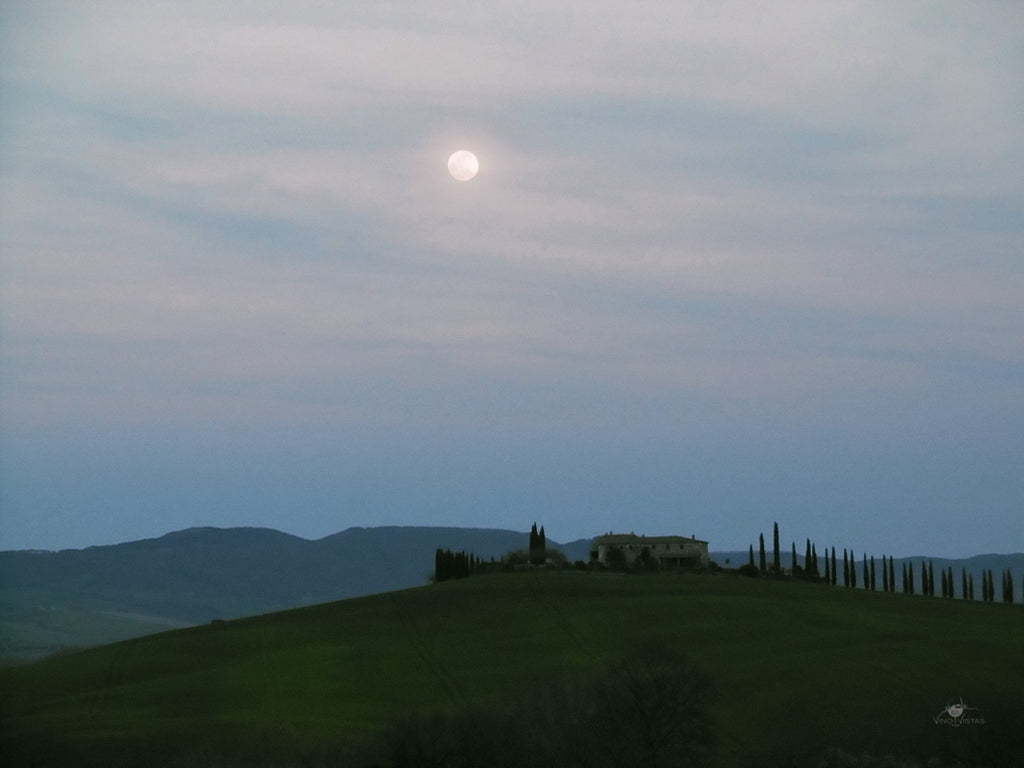 Full moon over the Orcia Valley