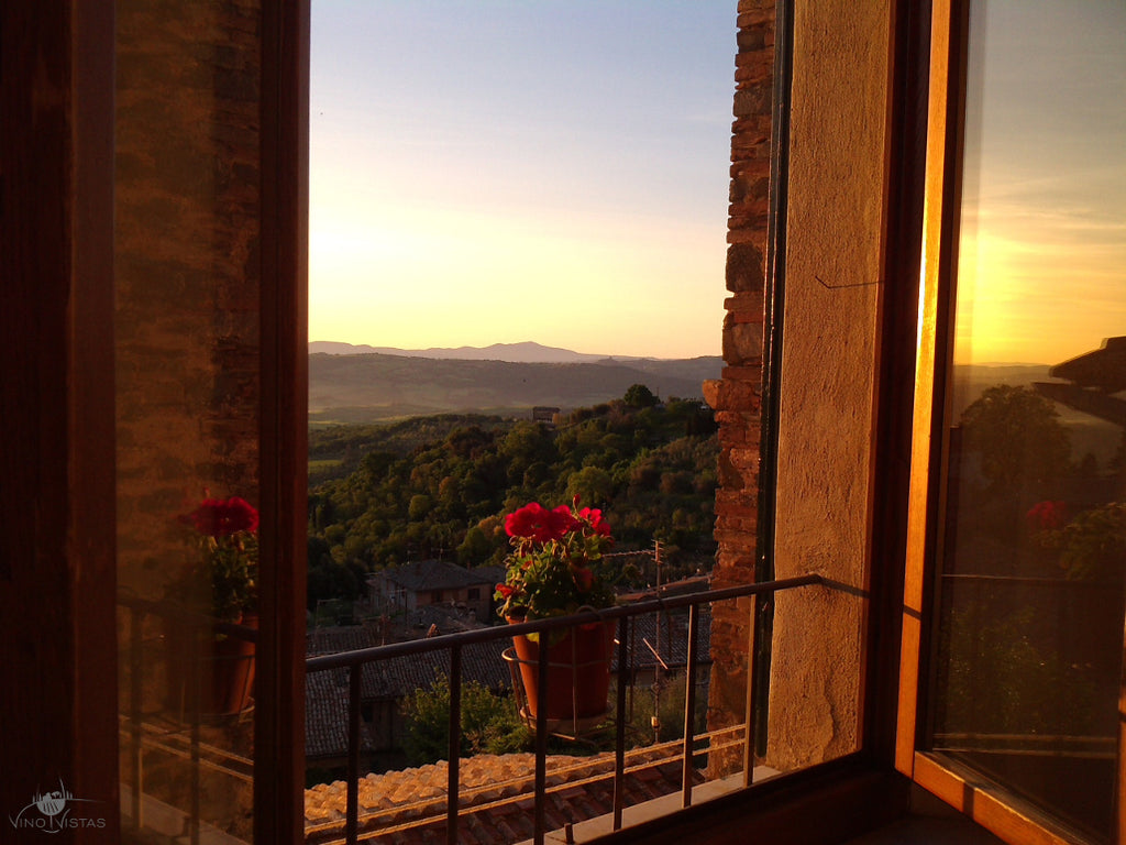 Sunset in Montalcino, Italy