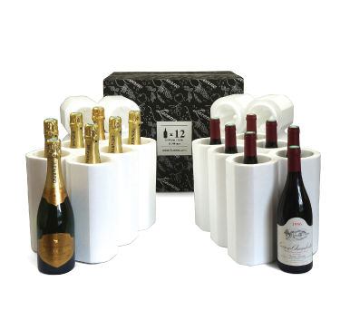 12 bottle styrofoam wine shipper for Champagne/Burgundy style bottles