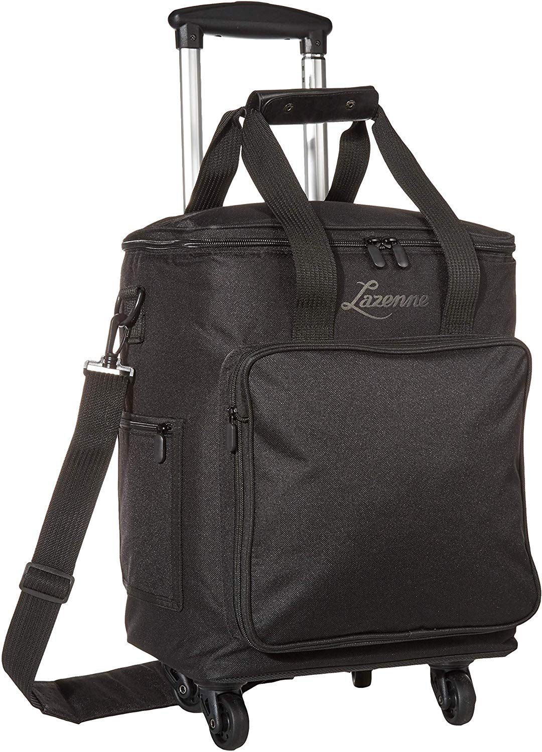 NEW - Lazenne Wine Cooler Bag for 6 bottles with Insulated and Removable Dividers