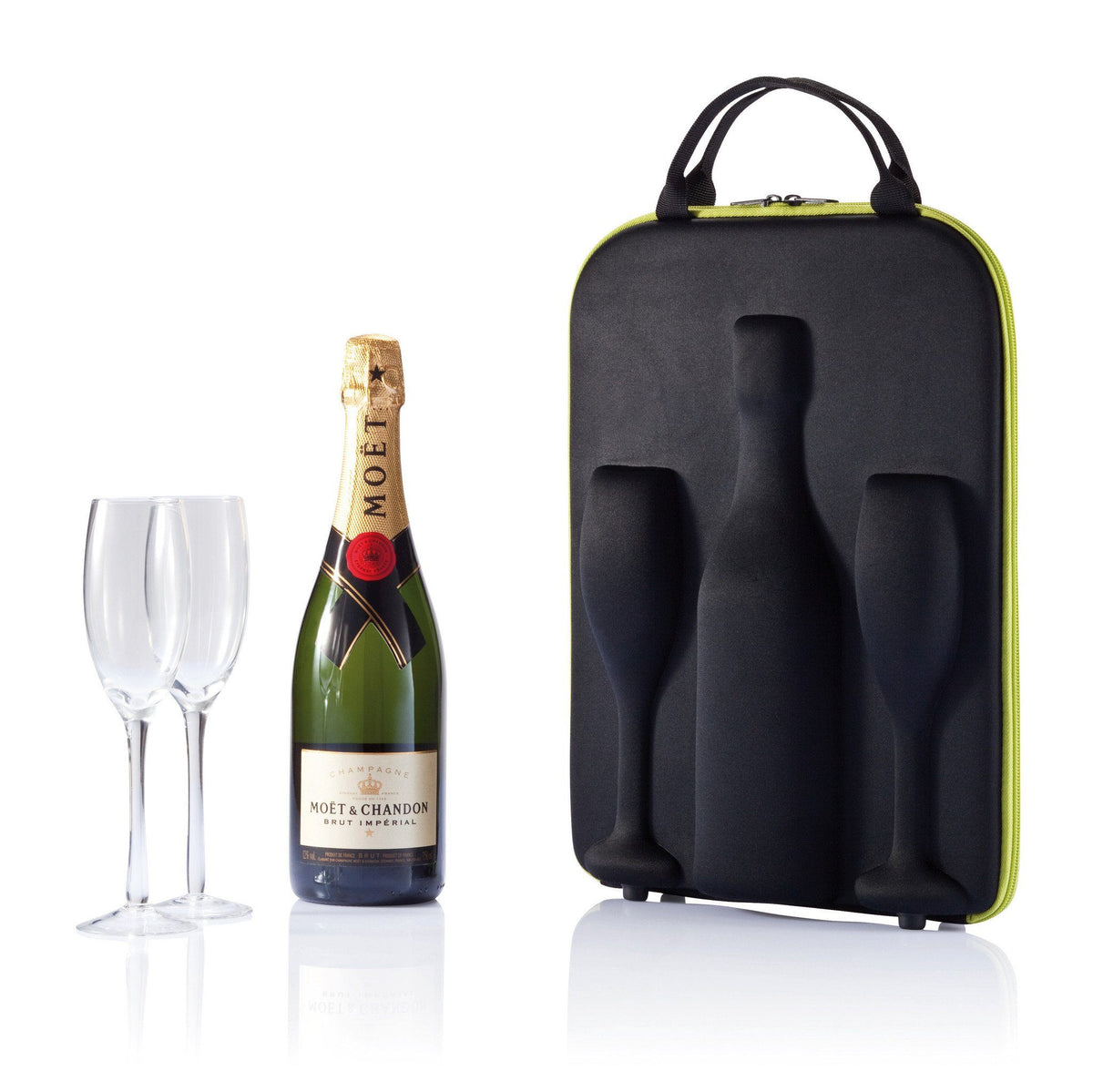 Bottle Protector Pouches - SWIRL CHAMPAGNE/SPARKLING WINE BOTTLE AND FLUTE CARRIER