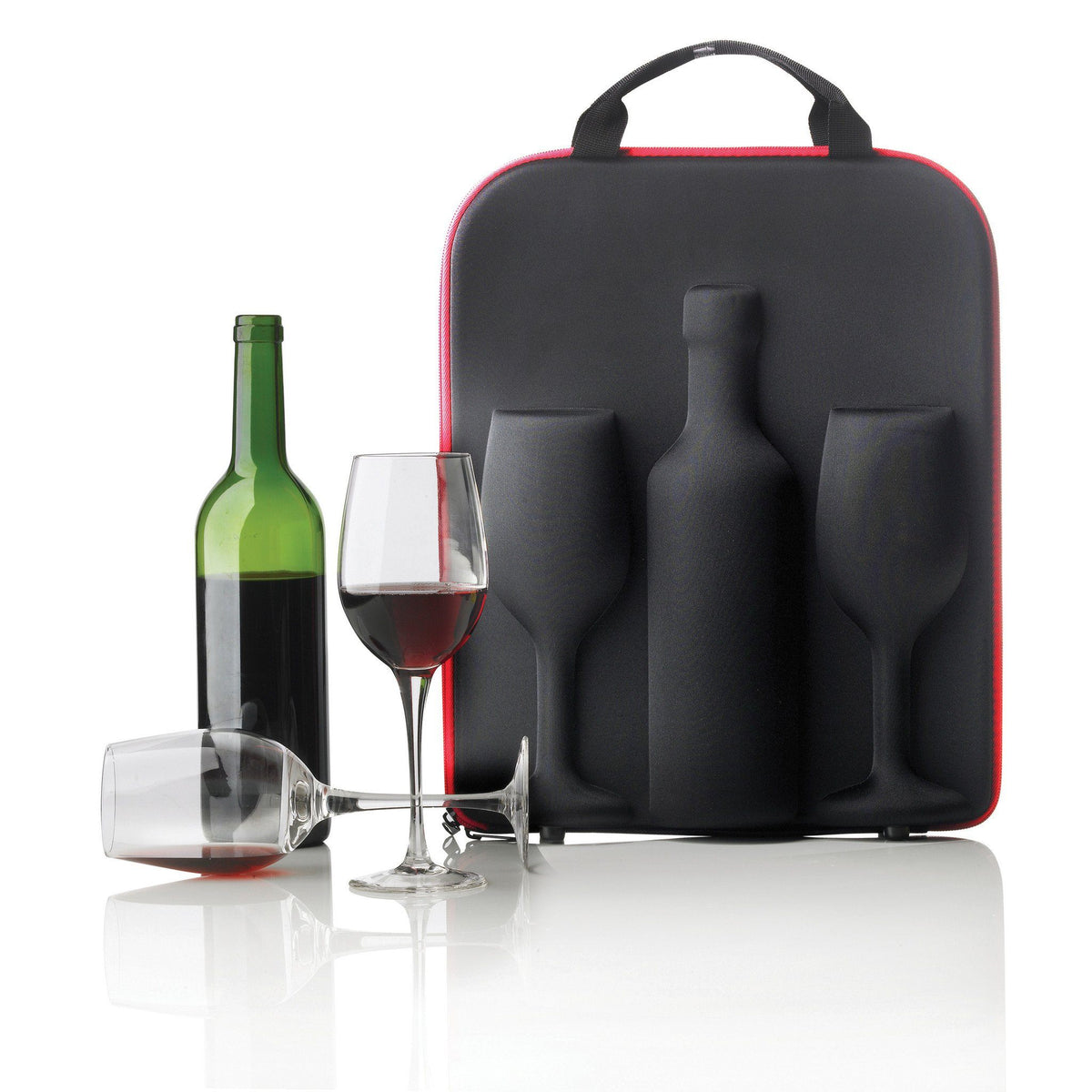 Bottle Protector Pouches - SWIRL WINE BOTTLE AND WINE GLASS CARRIER