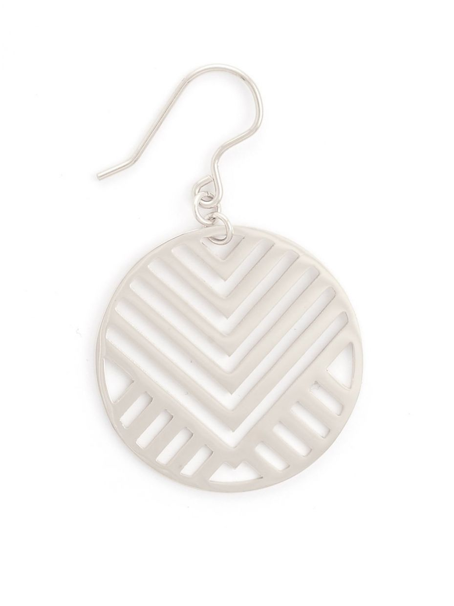 Zenzii Circle Earring With Cutout Design