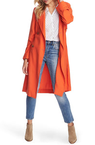 1. State Soft Twill Belted Trench Coat