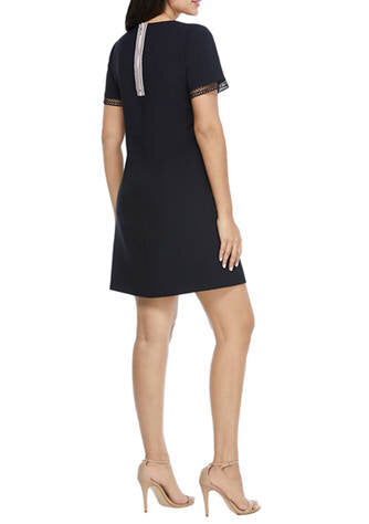 Maggy London Women's Short Sleeve Mystic Crepe Dress