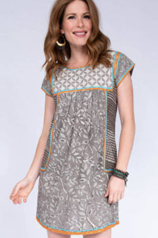 Uncle Frank Batik Dress with Embroidery