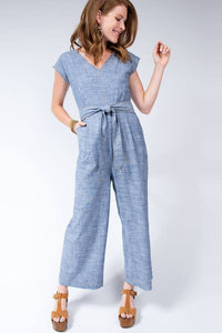Uncle Frank Dolman Jumpsuit with Waist Sash