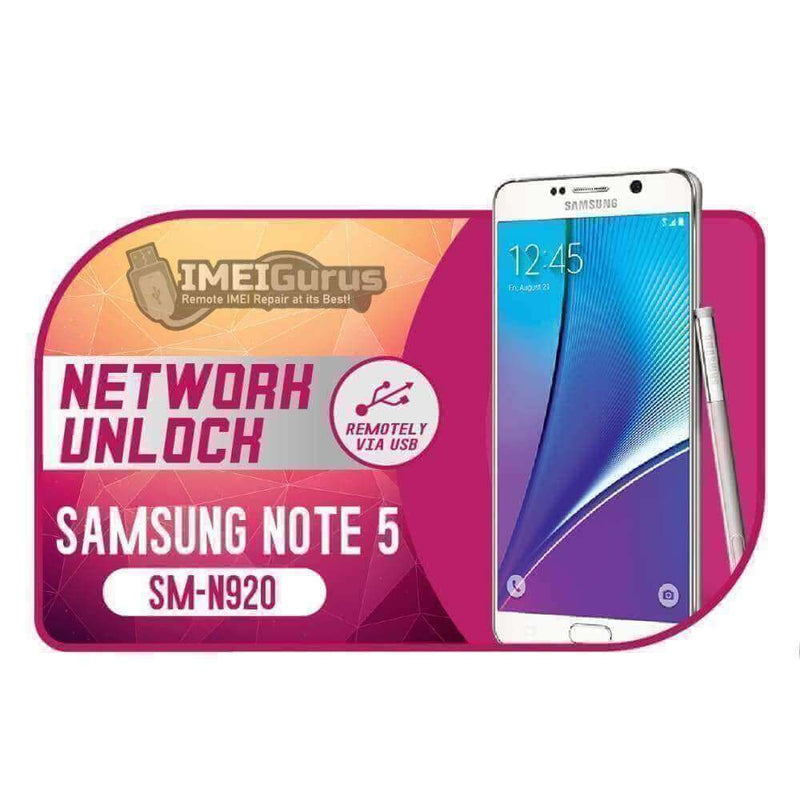N920 Note 5 Samsung Instant USB Carrier Unlock