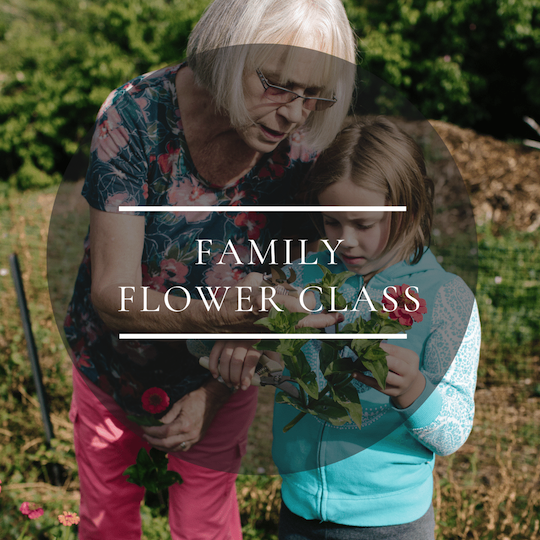 Family Gardening and Flower Arranging Class