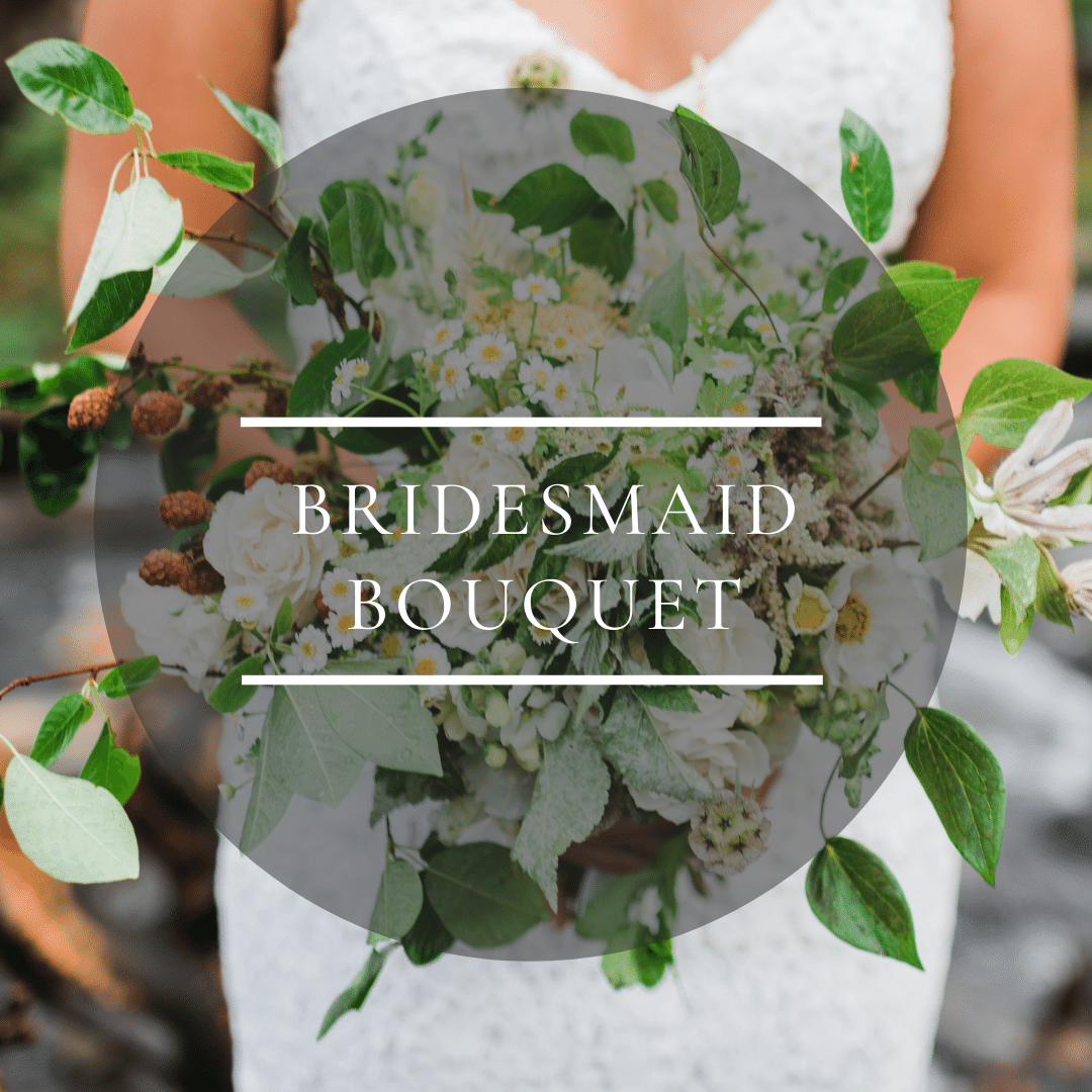 A la carte bridesmaid bouquet for your sustainable Colorado wedding from a flower farm