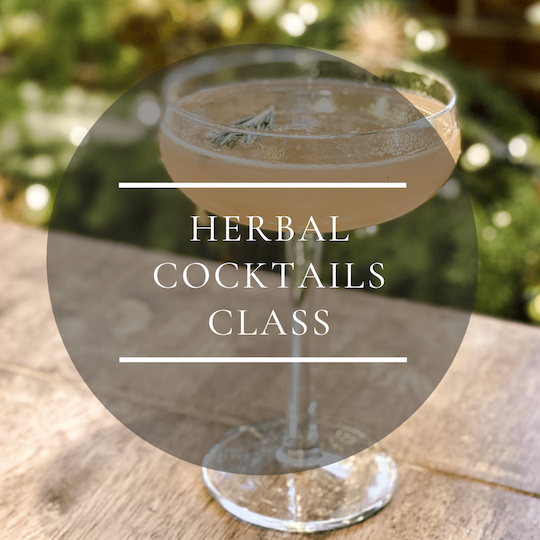 Herbal cocktails class at Colorado Flower farm