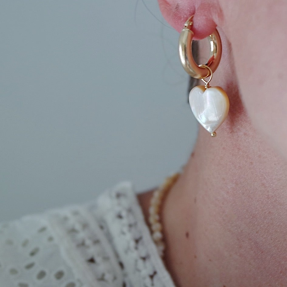 Bold Hoops Cuore