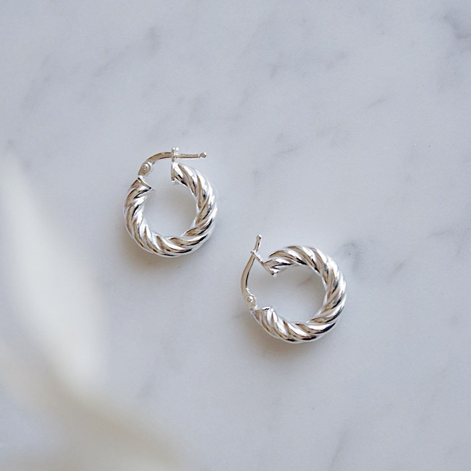 Hoops Torchon mini Silver