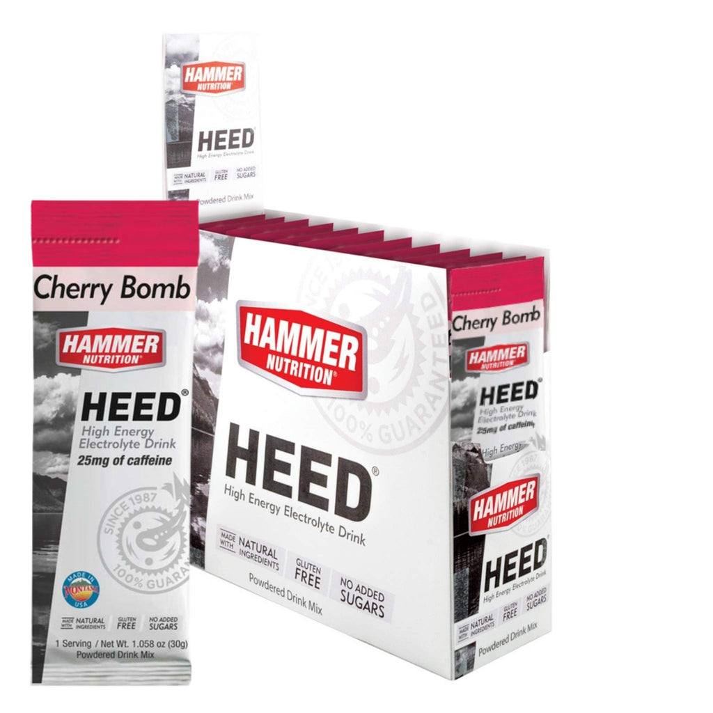 Hammer Nutrition - Box of 12 Single Packs, HEED, Cherry Bomb, Team Perfect