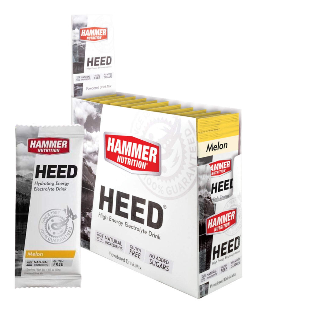 Hammer Nutrition - Box of 12 Single Packs, HEED, Melon, Team Perfect