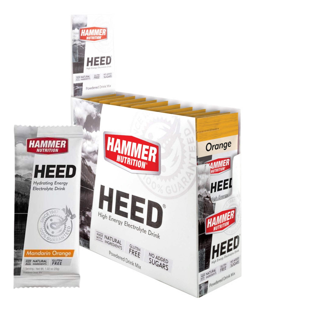 Hammer Nutrition - Box of 12 Single Packs, HEED, Orange, Team Perfect