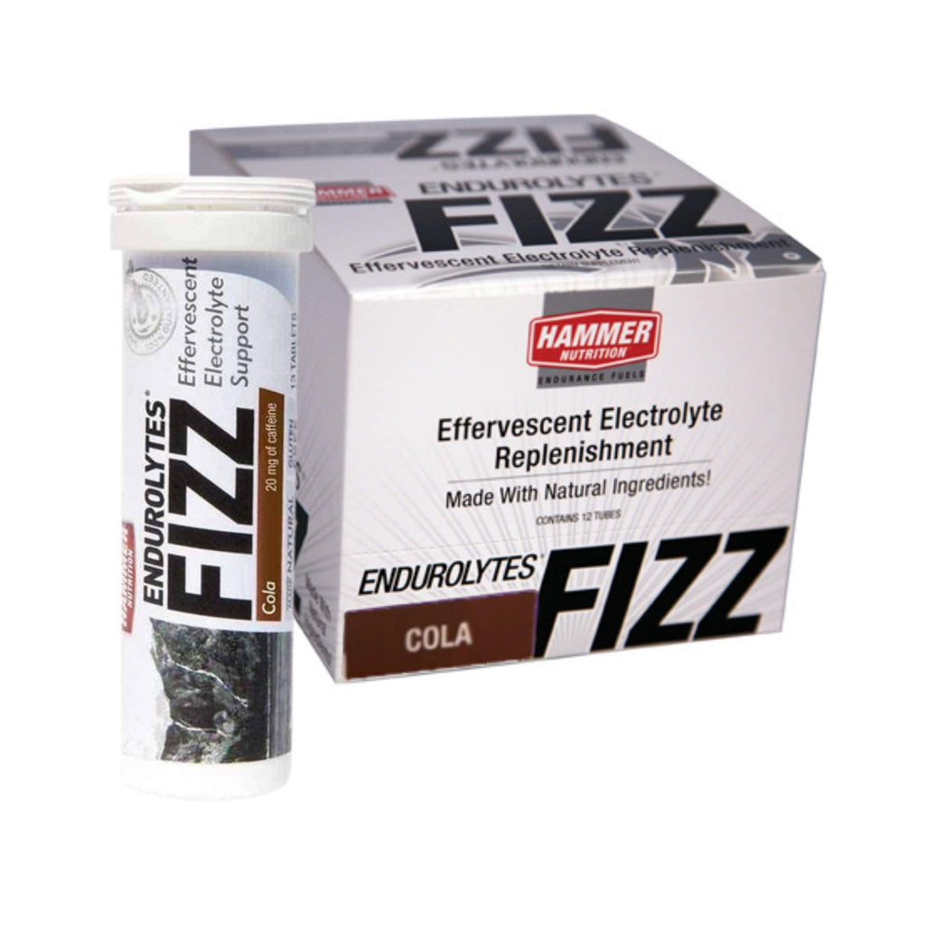 Hammer Nutrition - Endurolytes Fizz, Box of 12 Tubes, Cola, Team Perfect