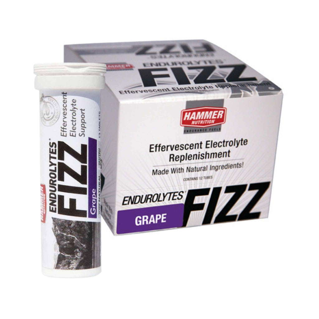 Hammer Nutrition - Endurolytes Fizz, Box of 12 Tubes, Grape, Team Perfect