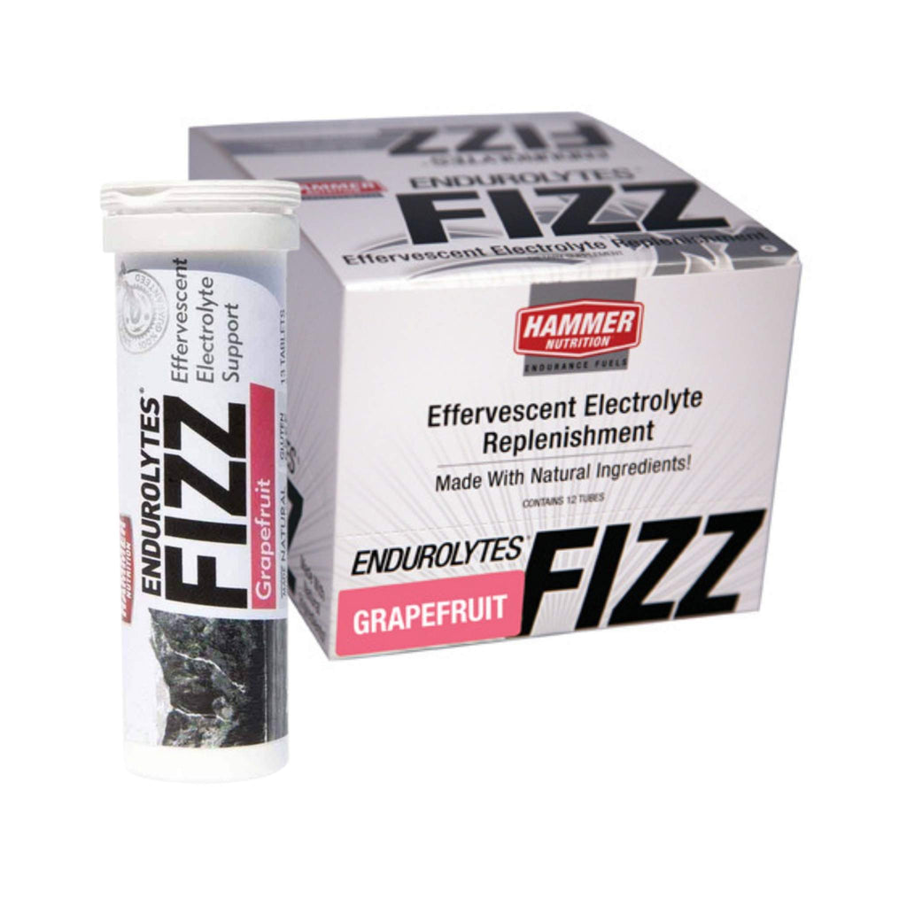 Hammer Nutrition - Endurolytes Fizz, Box of 12 Tubes, Grapefruit, Team Perfect