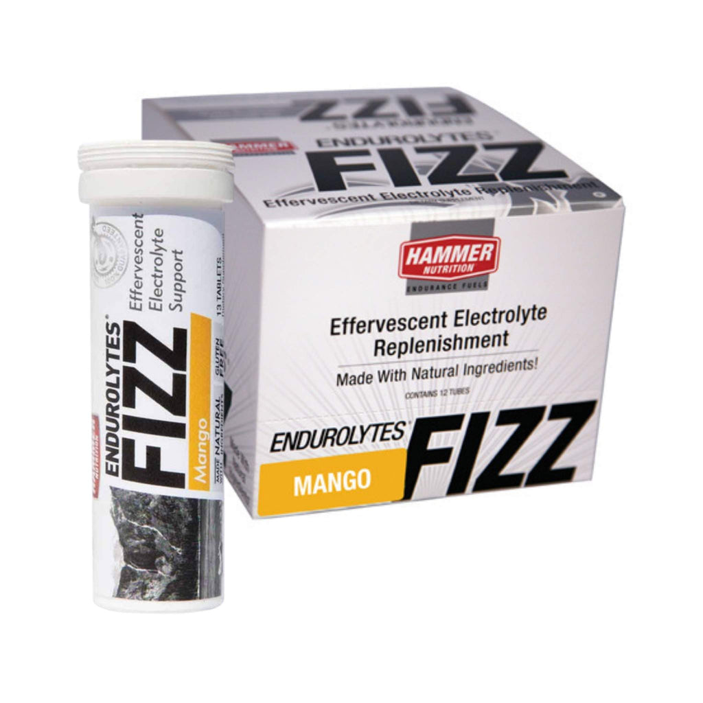 Hammer Nutrition - Endurolytes Fizz, Box of 12 Tubes, Mango, Team Perfect