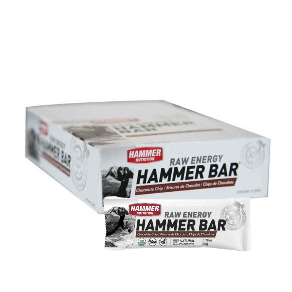 Hammer Nutrition - Raw Energy Food Bar, Box of 12, Chocolate Chip, Team Perfect