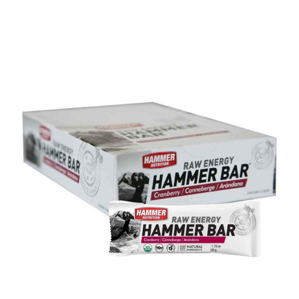 Hammer Nutrition - Raw Energy Food Bar, Box of 12, Cranberry, Team Perfect