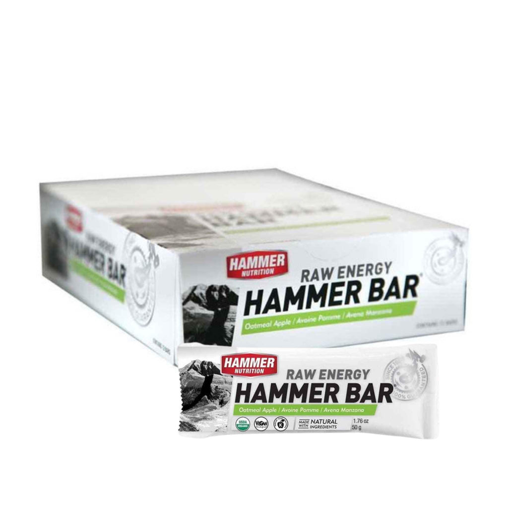 Hammer Nutrition - Raw Energy Food Bar, Box of 12, Oatmeal Apple, Team Perfect