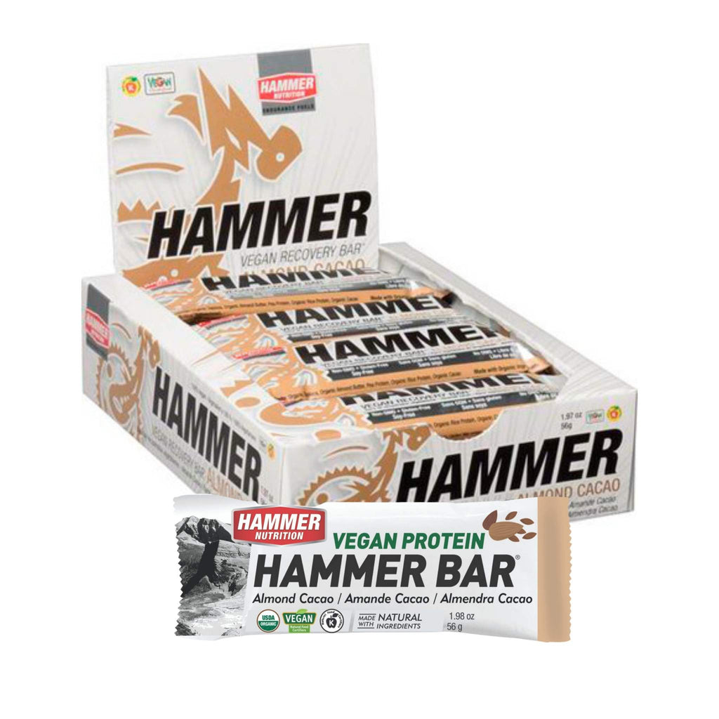 Hammer Nutrition - Vegan Protein Bar, Box of 12, Almond Cacao, Team Perfect