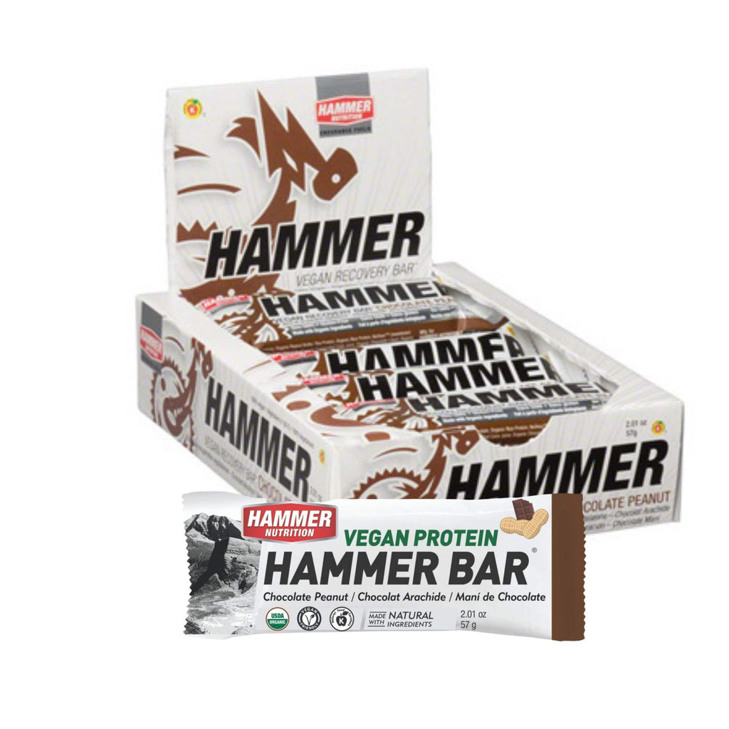 Hammer Nutrition - Vegan Protein Bar, Box of 12, Chocolate Peanut, Team Perfect