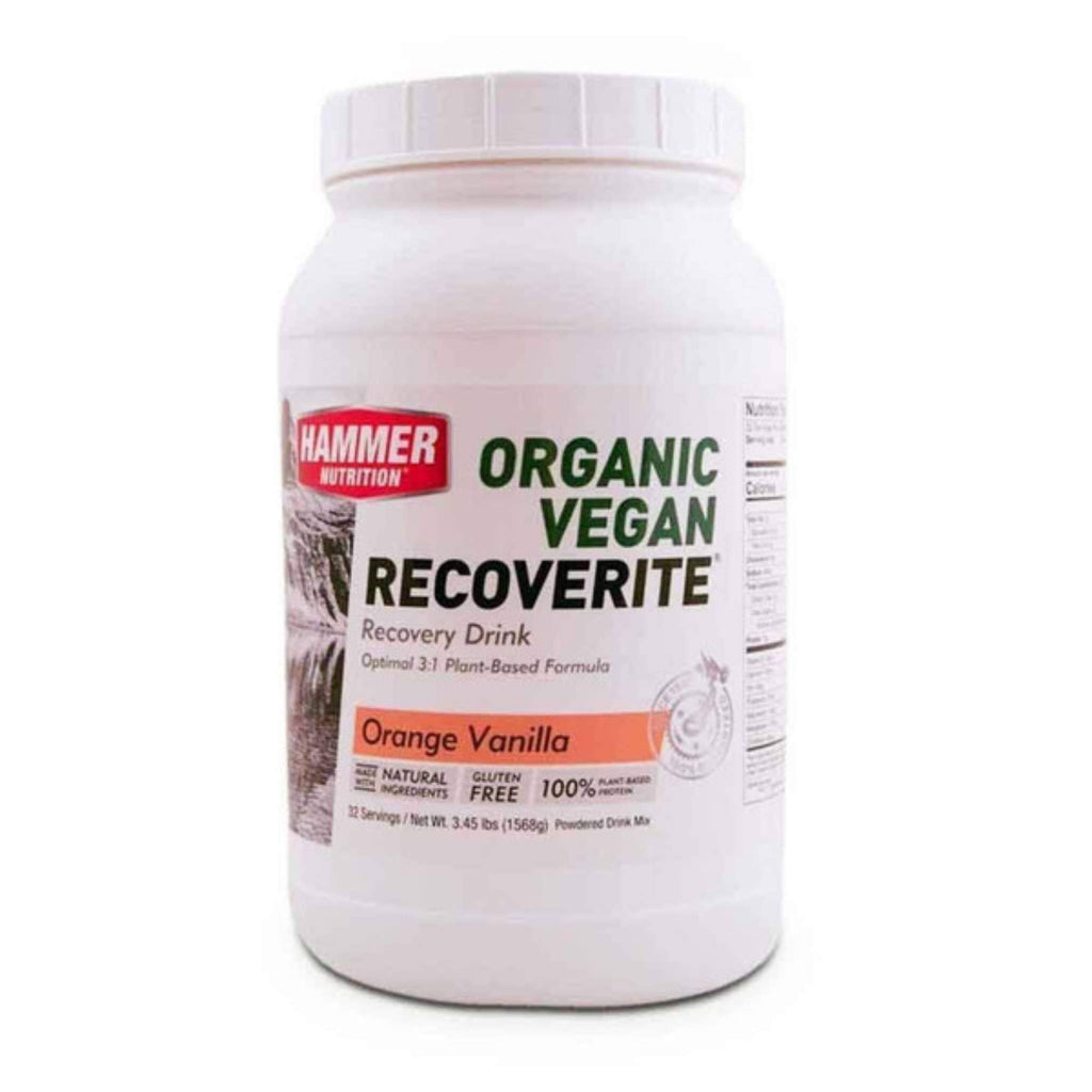Hammer Nutrition - Vegan Recoverite, Orange Vanilla, 32 Servings, Team Perfect