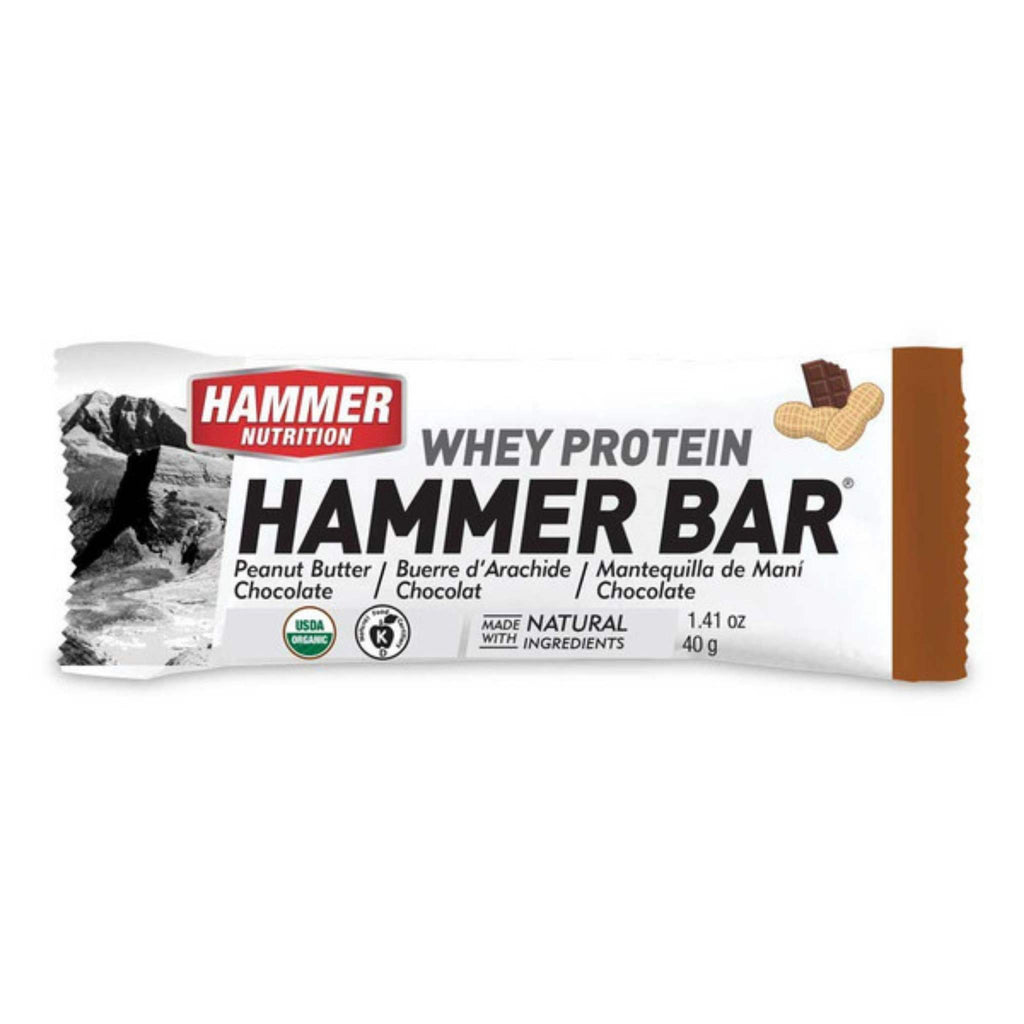 Hammer Nutrition - Whey Protein Bars, Box of 12, Peanut Butter Chocolate