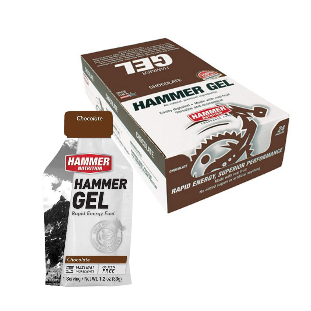 Hammer Nutrition Endurance Gel, Box of 24, Chocolate, Team Perfect