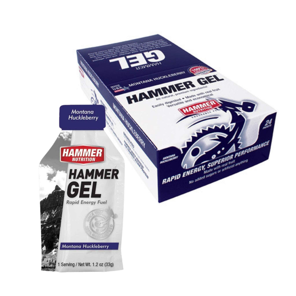 Hammer Nutrition Endurance Gel, Box of 24, Huckleberry, Team Perfect