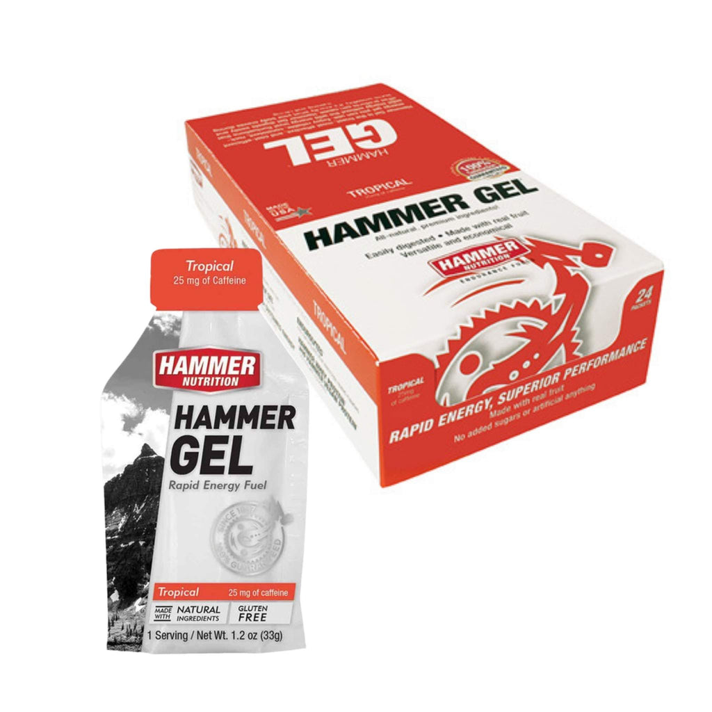 Hammer Nutrition Endurance Gel, Box of 24, Tropical, Team Perfect