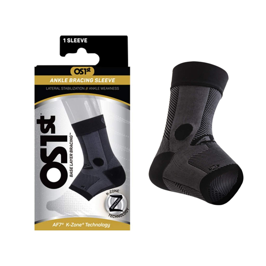 OS1st - AF7 Ankle Bracing Sleeve, Black, Shown in Packaging, Team Perfect