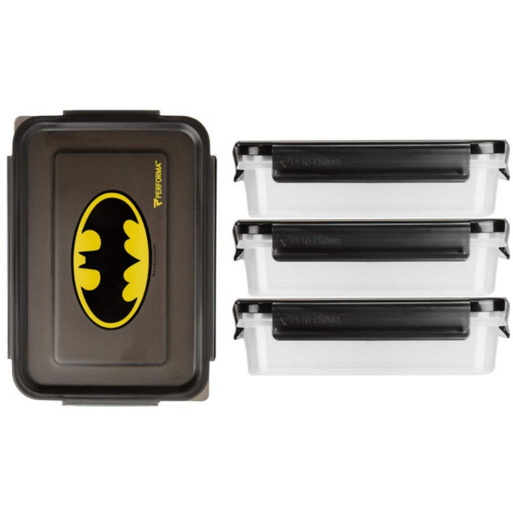 Performa - Meal Containers, 3 Pack, Batman, Team Perfect