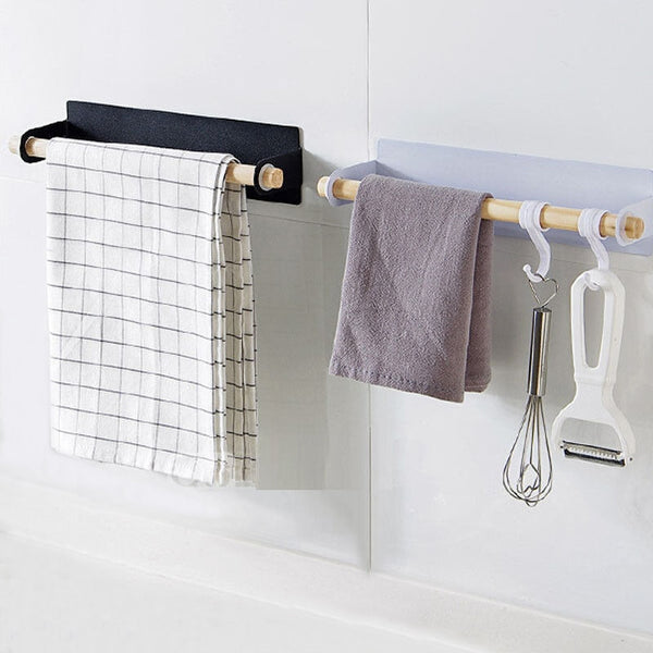 Multipurpose Wooden Bathroom Rack