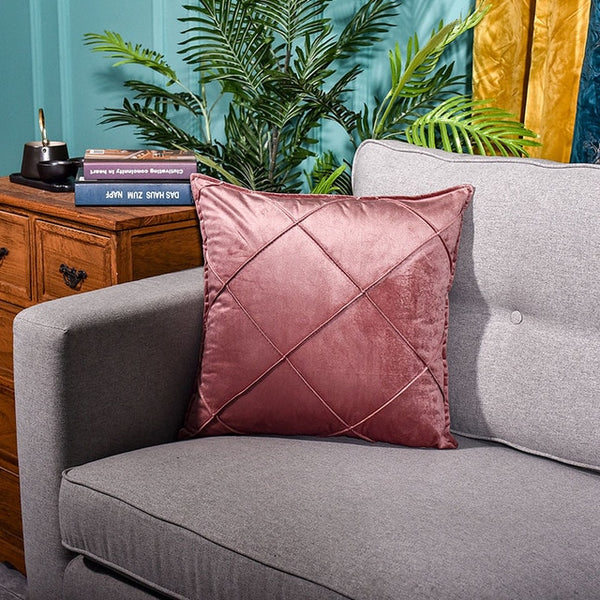 Velvet Square Throw Pillow