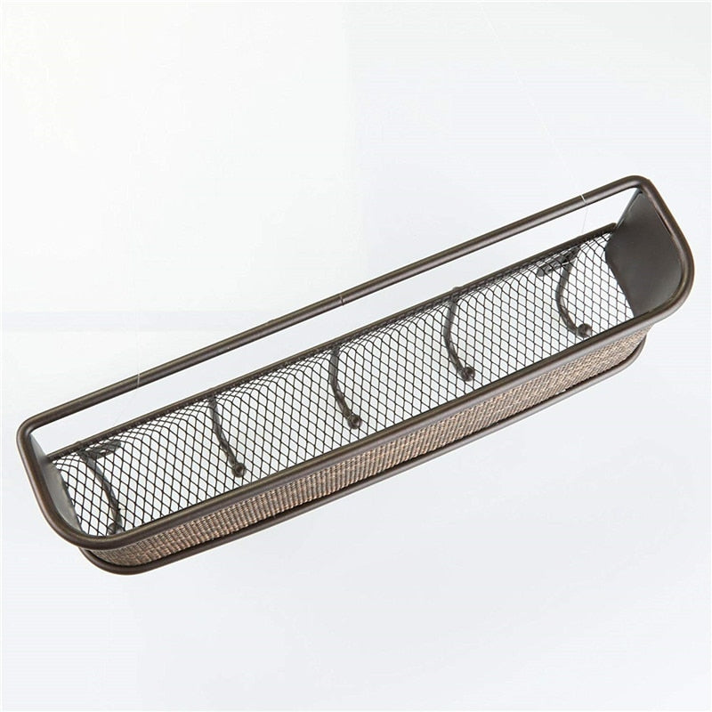 Stainless Steel Wall Shelf & Hanger