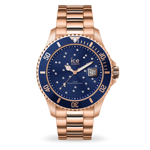 ICE steel - Blue cosmos rose-gold  016774