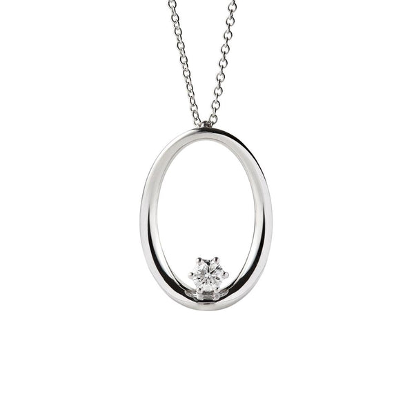 18 kt white gold pendant set with diamond