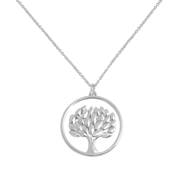 Life tree pendant with diamonds