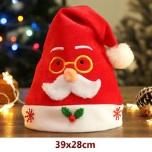 Load image into Gallery viewer, 2021 New Year Christmas Hat Kid Adult Beanie Sweater Non-woven Christmas Light Hat For Christmas Party decoration