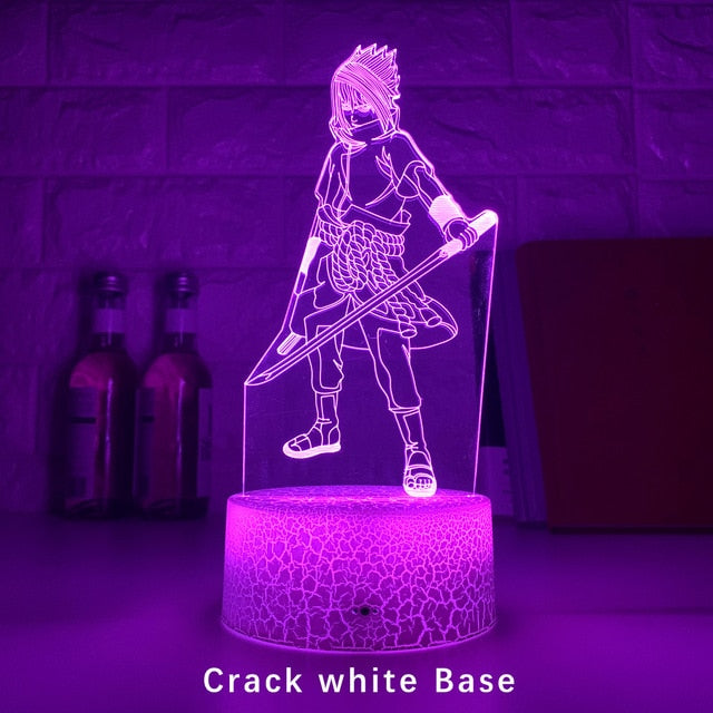 New 3d Led Night Light Uchiha Sasuke Figure Color Changing Nightlight for Kids Bedroom Decor Touch Sensor Table Lamp Naruto Gift