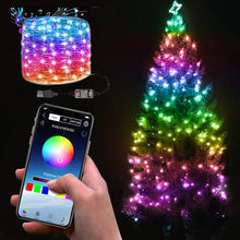 Load image into Gallery viewer, USB LED String Light For Christmas Tree Decor Smart Bluetooth xmas String Lights App Remote Control Light Christmas decoration