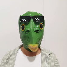 Load image into Gallery viewer, LeadingStar Halloween Funny Cosplay Costume Mask Unisex Adult Carnival Party Green Fish Head Mask Headgear